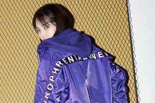 韩国女艺人泫雅拍代言品牌最新宣传照
