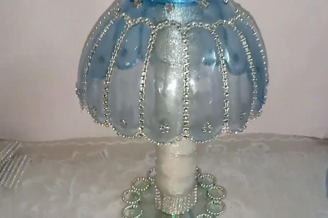废旧塑料瓶的妙用,带你学习如何制作漂亮的灯罩,包教包会!