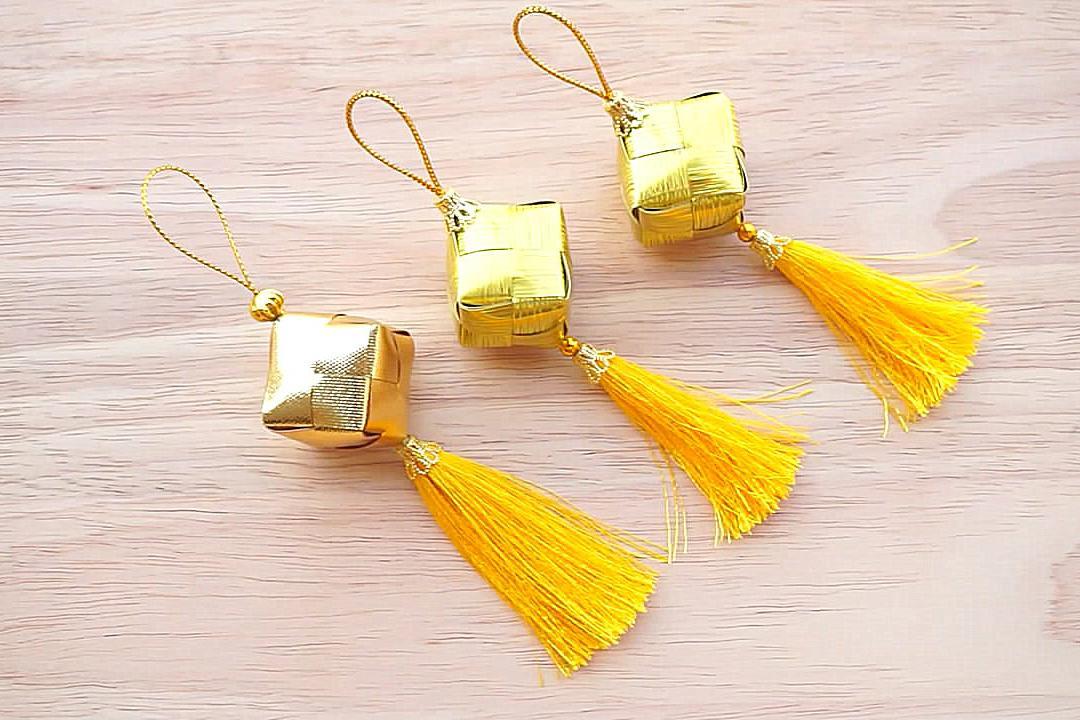 创意手工DIY,彩带香包挂件的折叠方法!