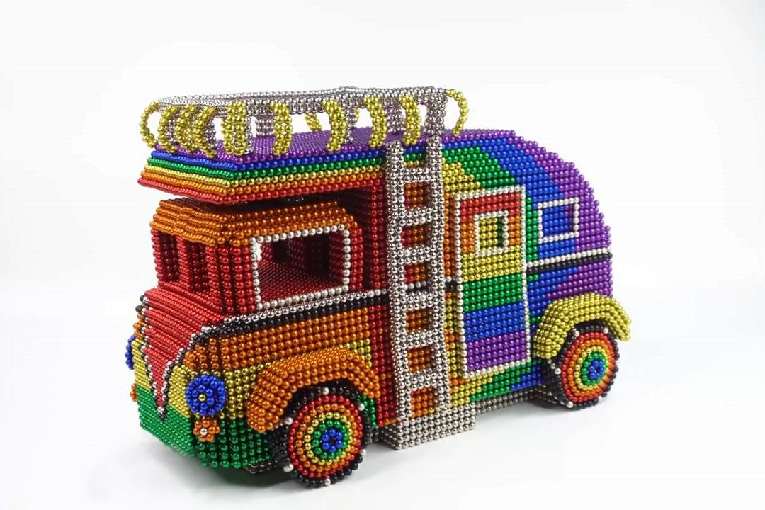 磁球房车模型的搭建方法,简单易学,创意十足!
