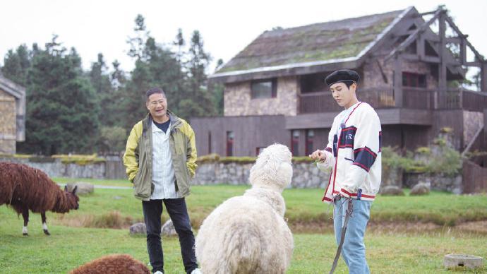 一路成年 李汶翰与羊驼锁了 口水互喷幼儿园级别的斗法