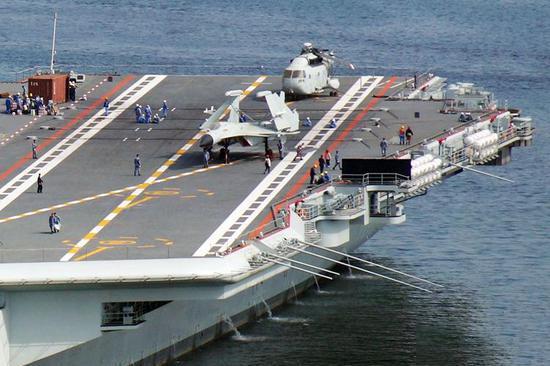 准备再次出海?国产航母或展开最后一次海试,排水量65000吨左右