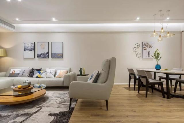 115㎡现代简约风,浅浅的色调营造舒适的家居空间