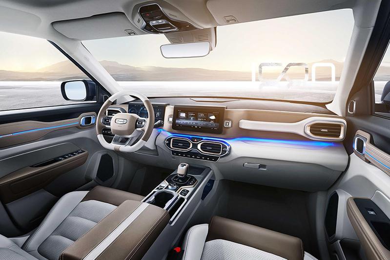高度还原概念车设计 配备双10.25大屏 吉利icon内饰官图曝光