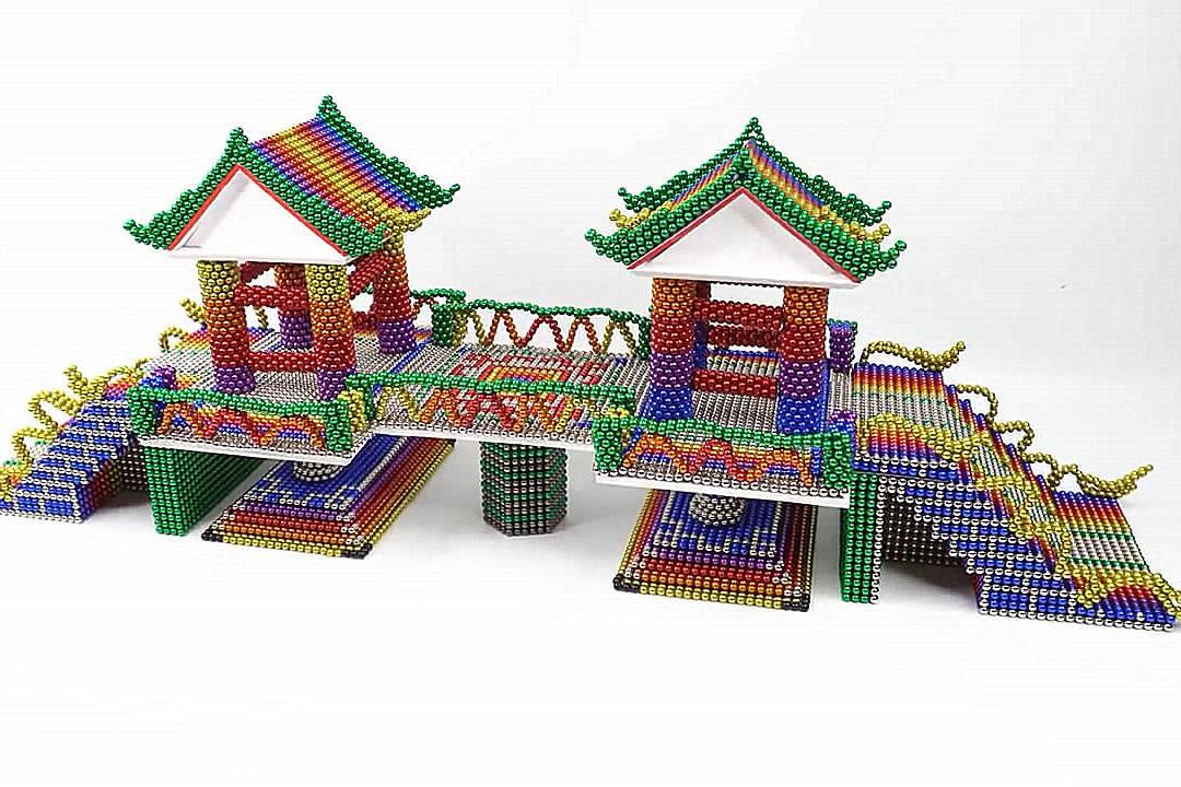 手办磁球模型,看看如何用磁球搭建桥梁模型!