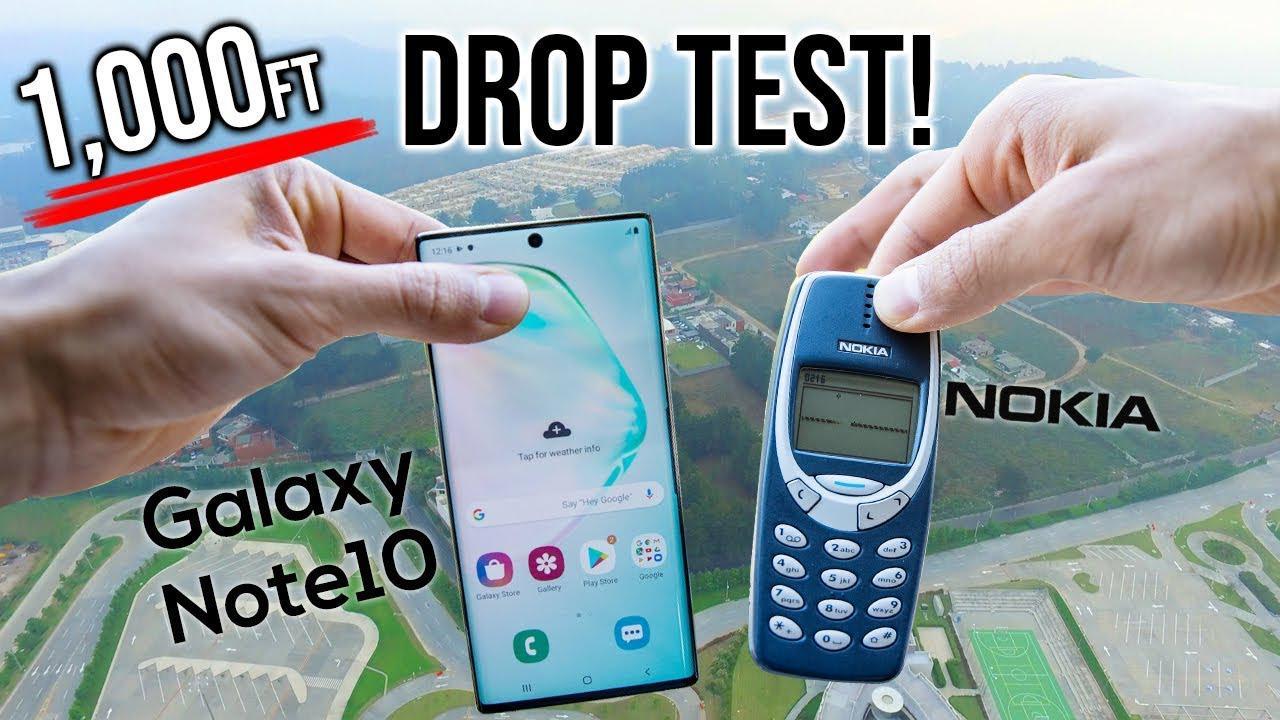 从300米高处扔下三星Note10和诺基亚3310,谁更耐摔
