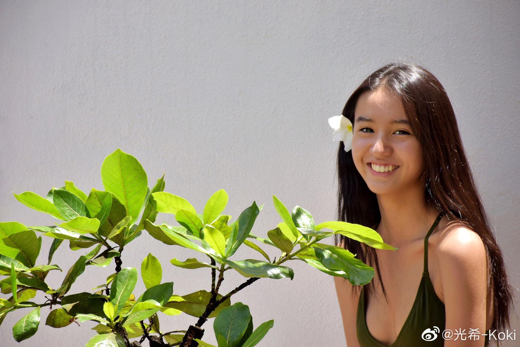 16岁木村光希晒最新写真照,笑容明媚动人,与爸爸木村拓哉撞脸