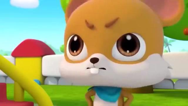 宝宝动画片:奇奇和皮皮都想先玩溜滑梯,排好队一起玩