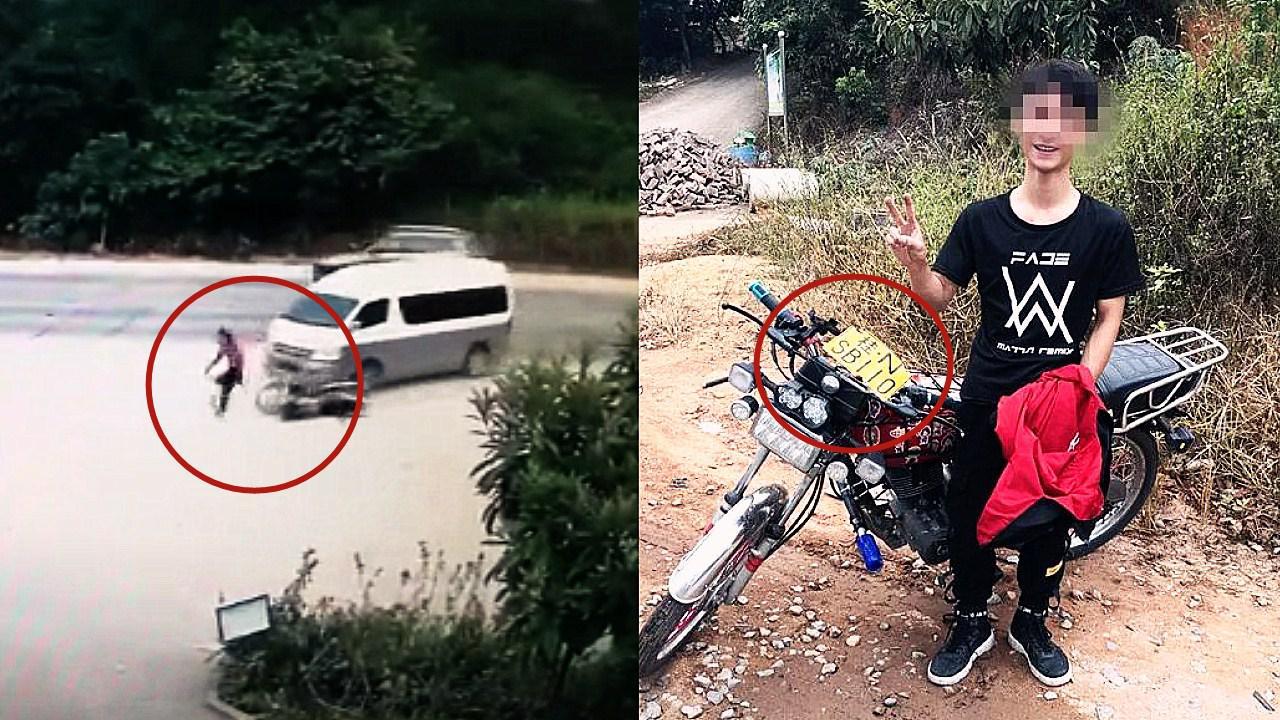 """广西男子无证驾驶辱警假车牌改装车被查 面对交警比划""""剪刀手"""""""