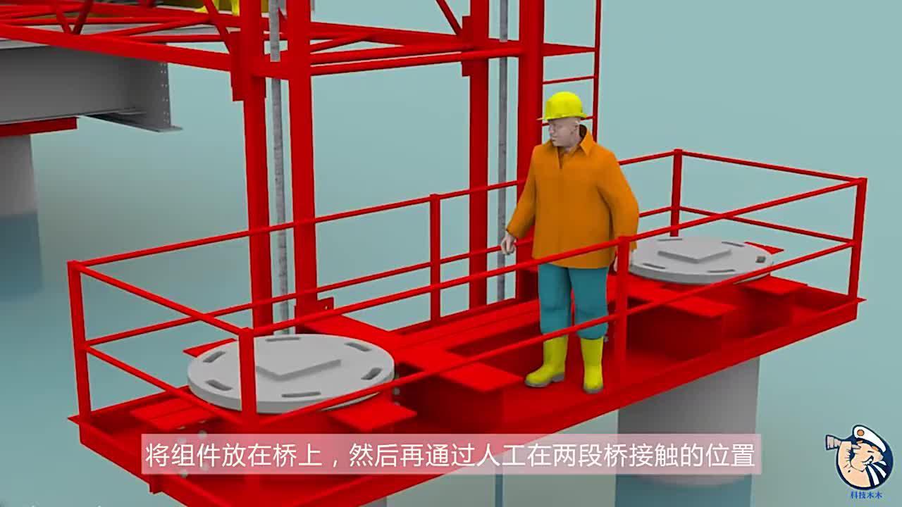 在海上是怎么建桥的3D动画模拟全过程看完佩服人类智慧