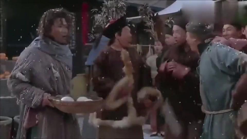 武状元苏乞儿:全剧最经典,星爷为救老爹吃狗饭,星爷太拼了!