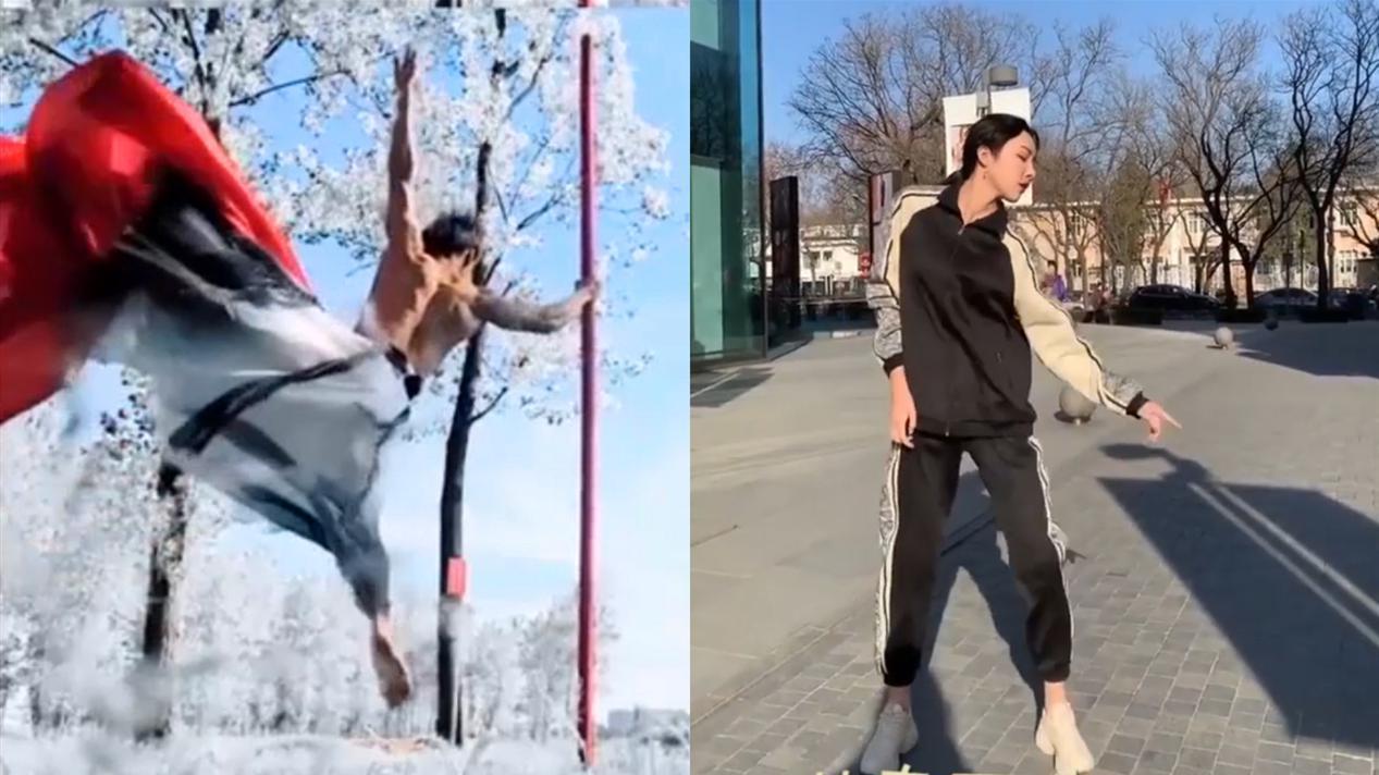 81个视频里的舞动人生:男子跳绝美钢管舞,爷爷孙女成最强舞搭