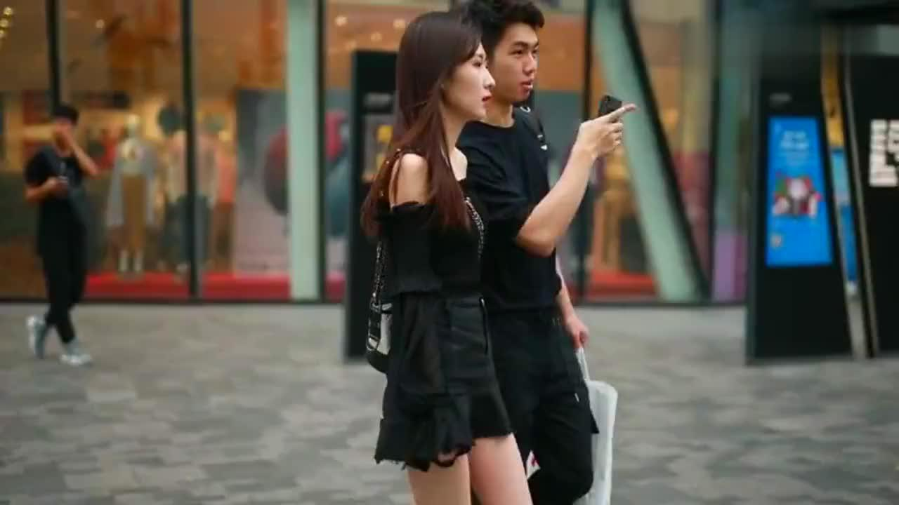 北京街拍,女人真的不易过瘦,否则太多人想照顾你了