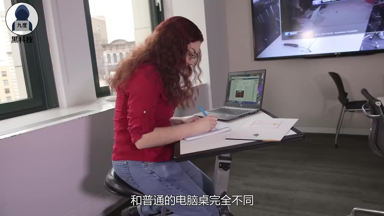跪着办公一点不累还能减轻脊椎压力靠这折叠电脑桌就能搞定