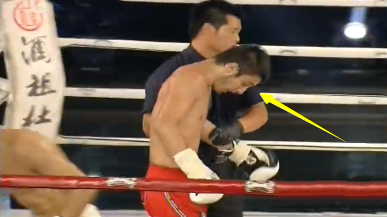 强敌激怒不败的中国勇士魏锐,结果被一脚残暴KO,被搀扶出擂台