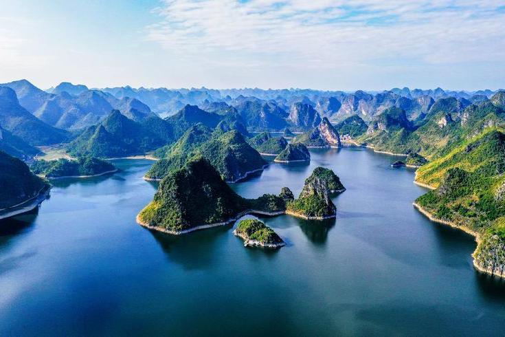 中国唯一没有大坝的水库,就在广西南宁,航拍下的景色太迷人!