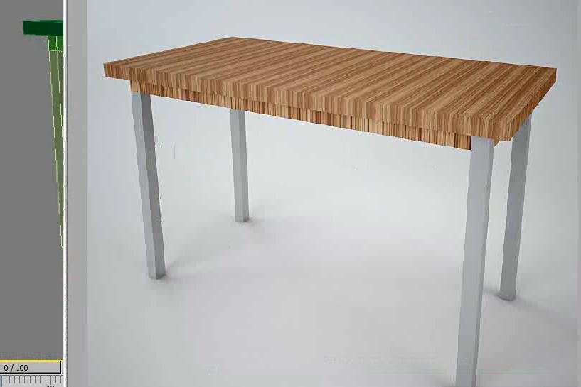 3dmax教程,利用长方体制作简约桌子