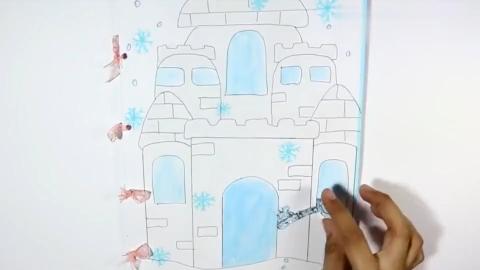 冰雪奇缘的创意手工书妆扮早教算术一应解决