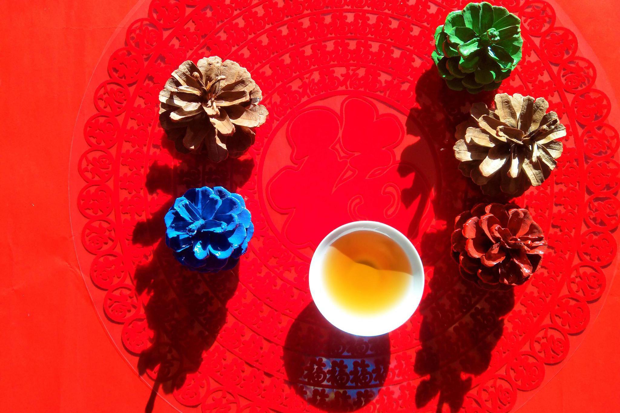 茶与松塔,原创拍摄