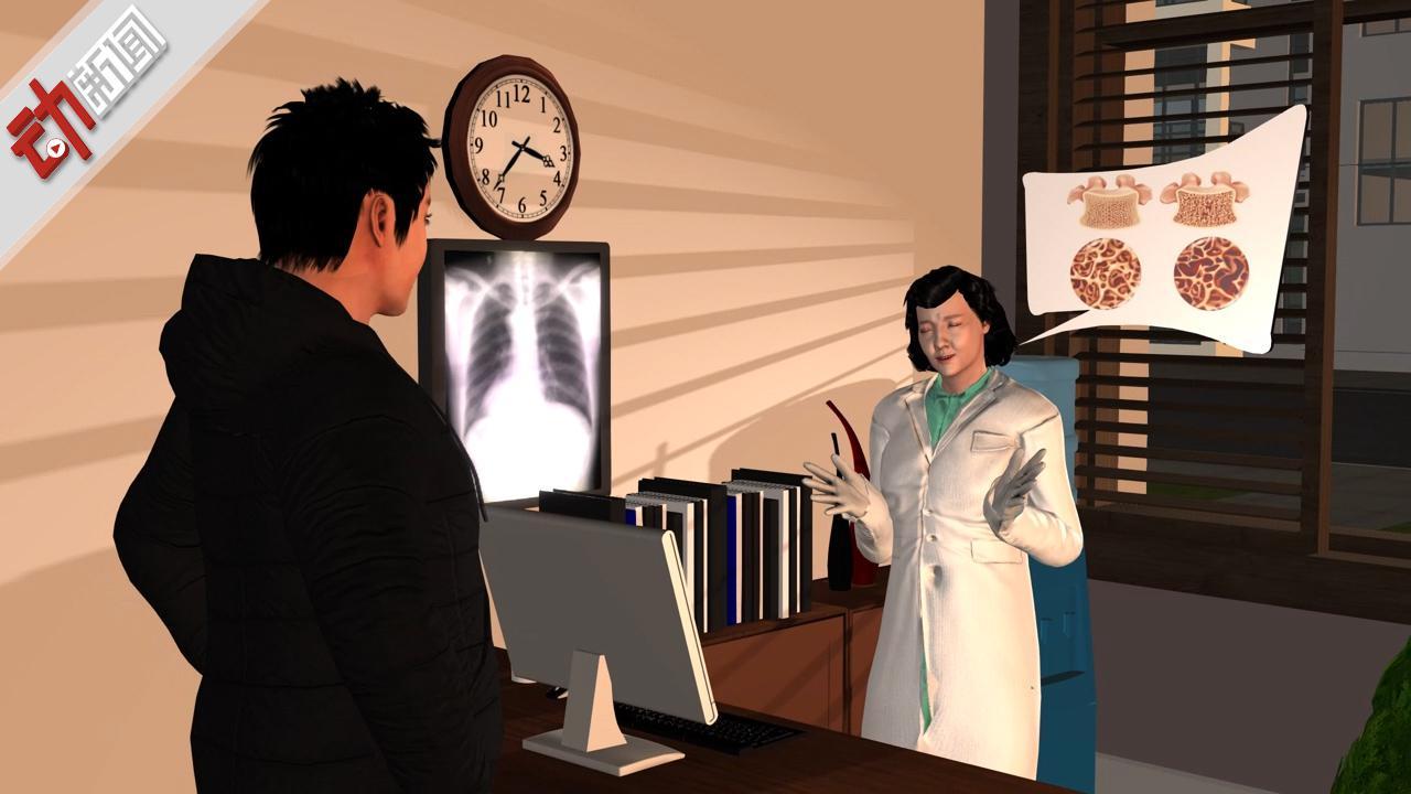 健壮小伙一阵猛咳 结果肋骨断了3D释疑肌肉收缩导致