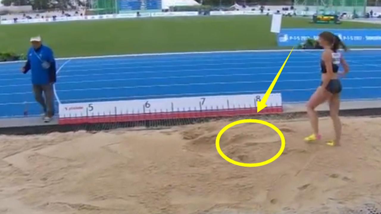 非人类?仅差0.01米!跳远女飞人这一跳爆发逆转夺冠,对手绝望了
