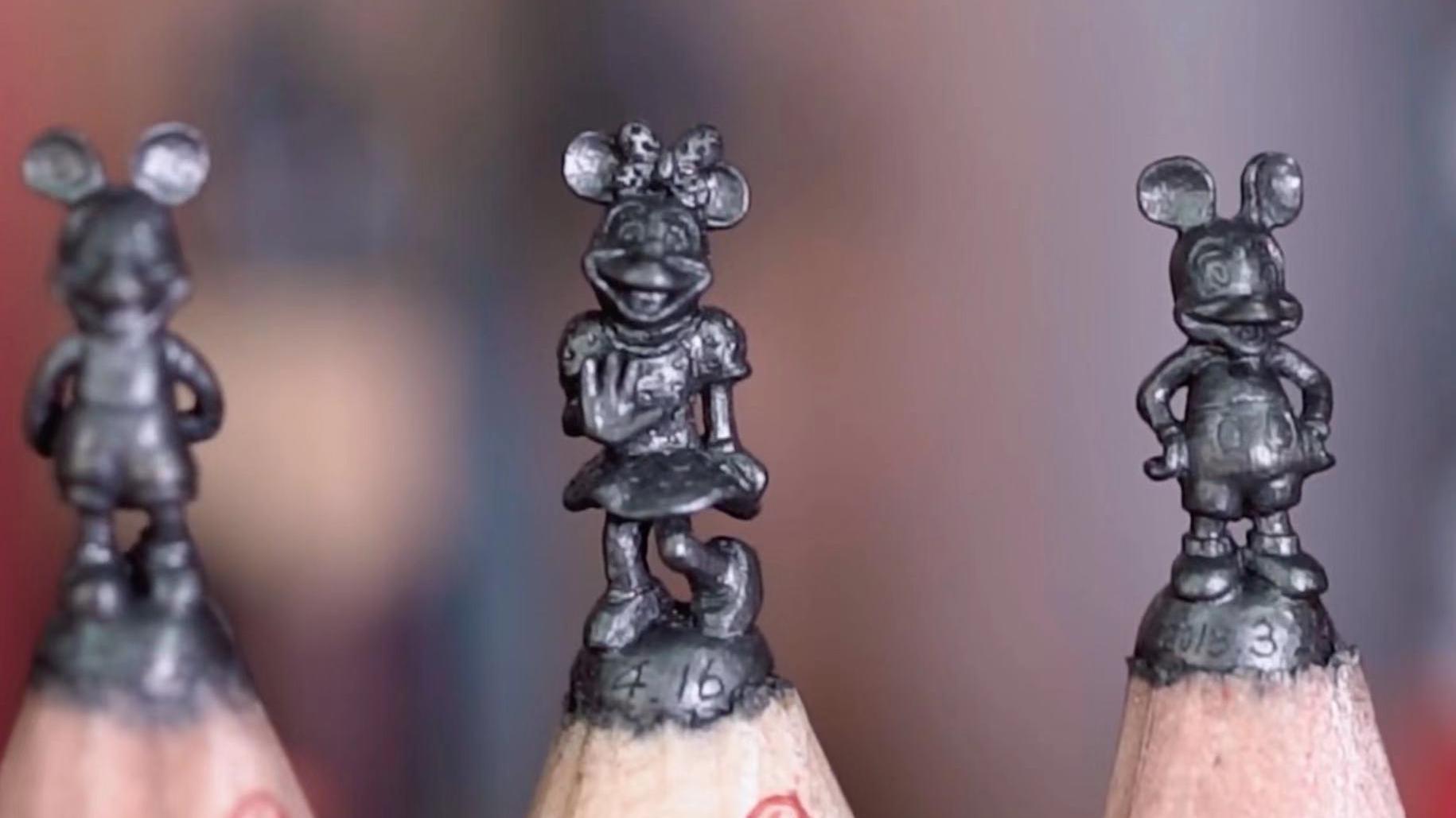 一支铅笔喊价1500美金?这个台湾人在铅笔芯上雕刻,创下了世界纪录