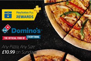 肥宅快乐饼 PSN英国联动达美乐PS+会员周末百元吃任意披萨