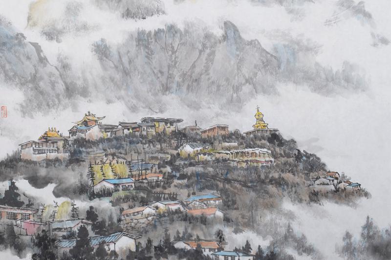中国画欣赏——方学晓安徽写生作品