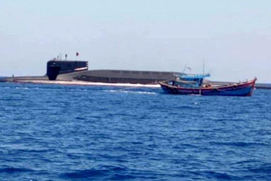 越南渔民偶遇094A,外国网友:将渔民生命置于保密之上,中国好人
