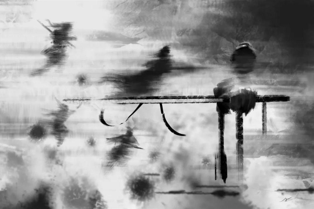 合肥丨聂晓波 温八无:武道文本美学与水墨图像的合韵