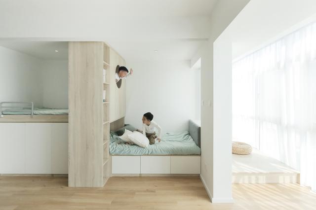 北京59m的四口之家,秒变100m小别墅,居然还有大卧室+大阳台