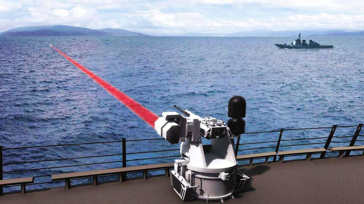美军激光武器即将上舰,功率150KW,用于实战还有很长一段路要走