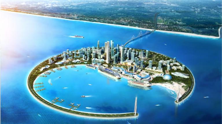 又一次世界第一我国填海造陆达新高度填出一个省区面积