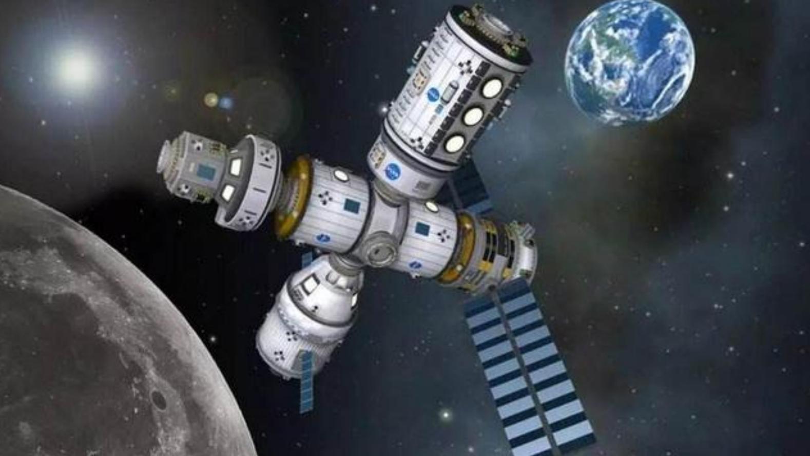 空间站为什么不直接建立在月球山,而是飘在太空?看完长知识了!