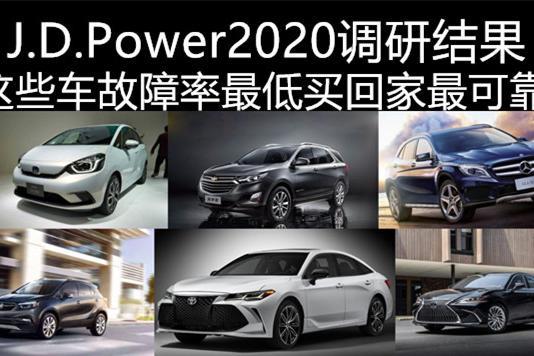 J.D.Power2020最新调研显示:这些车故障率最低,买回家最可靠
