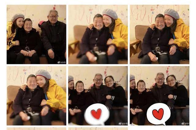 孙悦晒与公婆亲密合照,互动亲密,画面十分温馨
