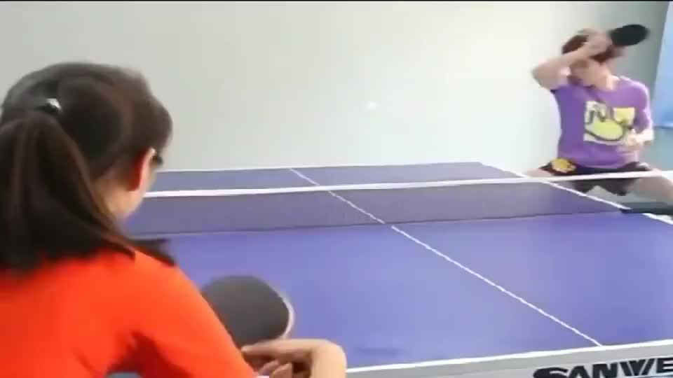 乒乓球技巧训练,这是张继科附体了吗?真的牛!