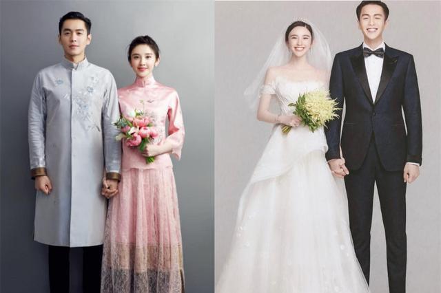 唐艺昕的婚纱,唐嫣的婚纱,差距一目了然!网友:还是张若昀用心
