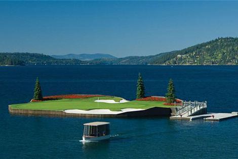 探访全球唯一能漂浮水中的高尔夫球场,世界上最美的高尔夫球场!