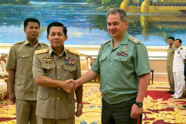 据报道,缅俄两军正加强多方面合作 缅军总司令看中俄罗斯装甲车