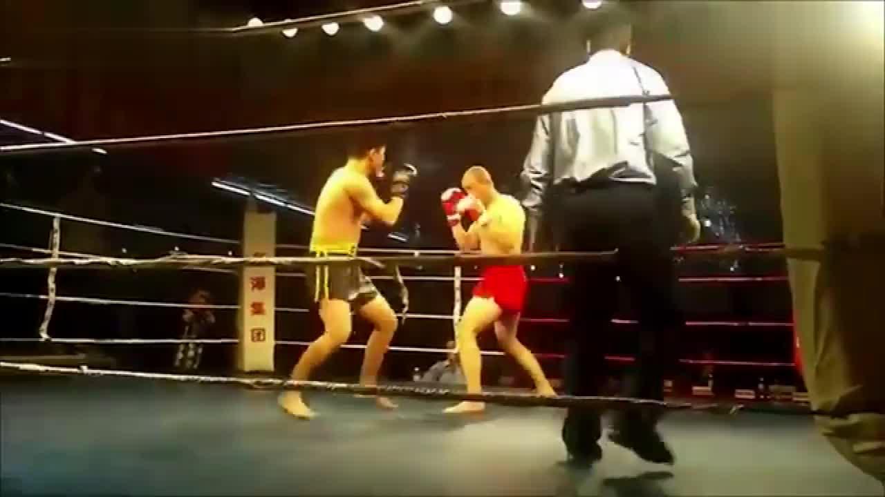 传统武术赢了内家大成拳,李刚VS散打选手21秒就KO散打选手
