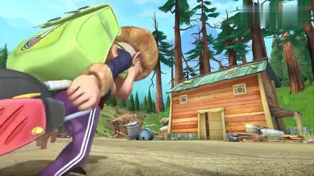 熊出没:光头强回家了,吉吉熊二吓得慌了,不知道该躲哪里好