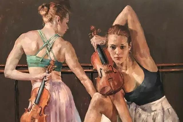身体张力的展现,英国画家穆里尔·巴克莱的作品