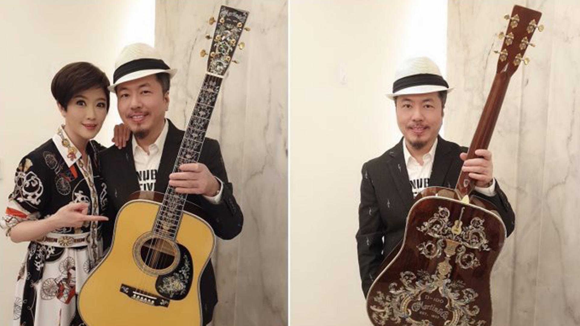 实力宠夫!寇乃馨送360万吉他给黄国伦,曾为他办演唱会亏损千万