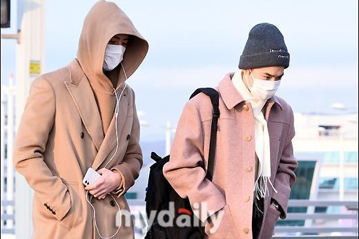 韩国男团EXO仁川机场启程飞往马来西亚