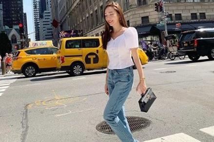 韩国女艺人Jessica社交网站发布纽约拍摄近照