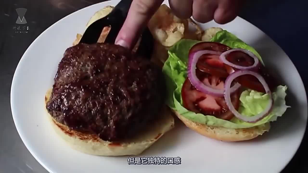 老外将汉堡放在显微镜下出现了不明物体看完你还敢吃吗