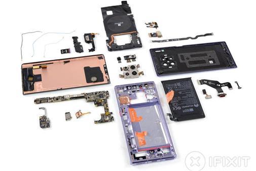华为Mate30 Pro完全拆解:7颗CMOS加持、内部模块化设计