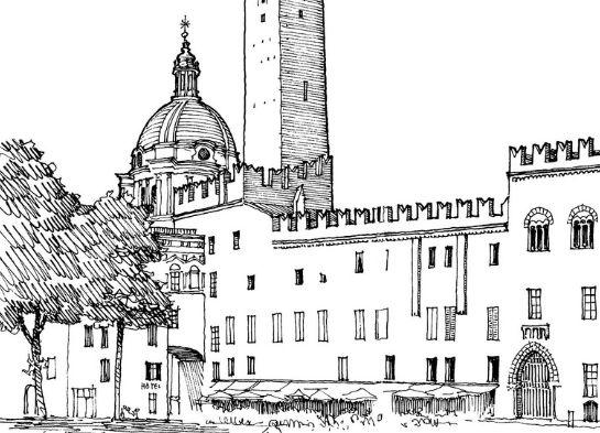 美图素材:建筑手绘线稿集分享,有喜欢的可收藏