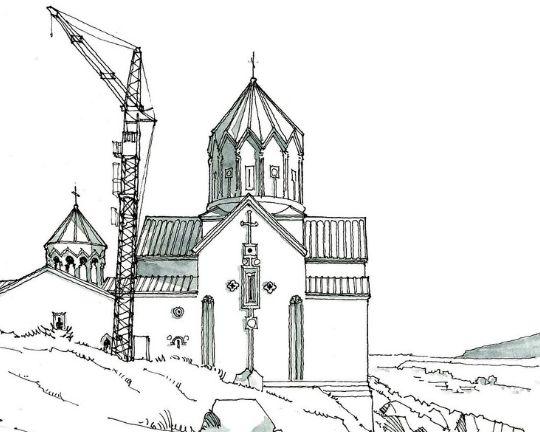 美图:喜欢西方古建筑手绘线稿集素材的可以看过来